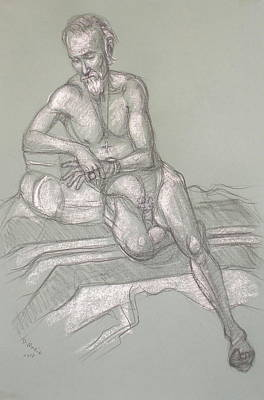 Drawing - Bill C Reclining by Donelli  DiMaria