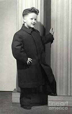 Photograph - Bill Clinton - 1950 - 4 Years Old by Merton Allen
