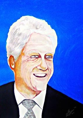 William Clinton Painting - Bill Clinton 2011 by Ken Higgins
