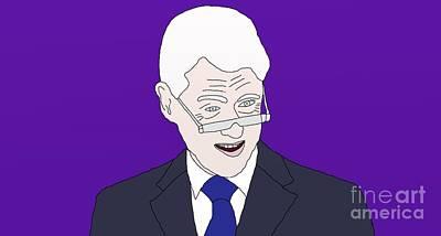 Hillary Clinton Drawing - Bill Clinton by Priscilla Wolfe