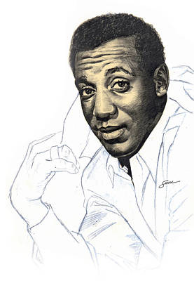 Portraits Drawing - Bill Cosby by Harold Shull