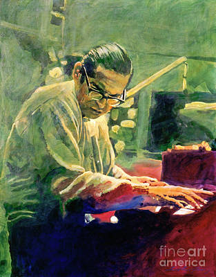 Jazz Legends Wall Art - Painting - Bill Evans Quintessence by David Lloyd Glover