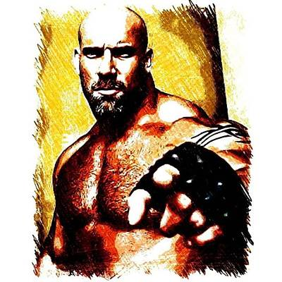 Wrestling Photograph - Bill Goldberg #wrestling #billgoldberg by Ant Jones