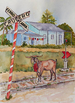 Painting - Bill Grogan's Cuban Goat by Patricia Beebe