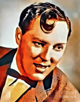 Music Paintings - Bill Haley, Music Legend. Digital Art by Mary Bassett by Esoterica Art Agency