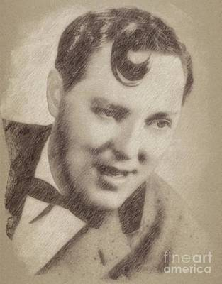 Famous Musician Drawing - Bill Haley, Musician by John Springfield
