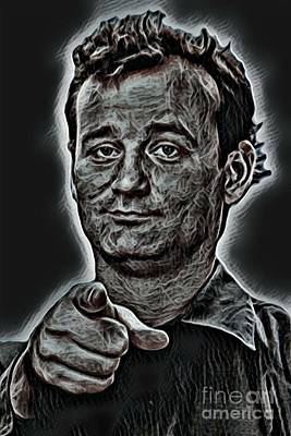Ghost Busters Photograph - Bill Murray Actor by Pd