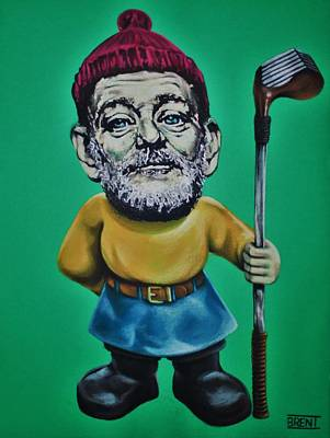 Drawing - Bill Murray Golf Gnome by Brent Andrew Doty