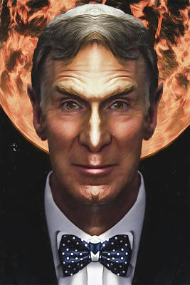 Digital Art - Bill Nye Science Officer Guy by John Haldane