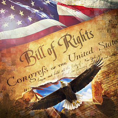 Digital Art - Bill Of Rights by Evie Cook