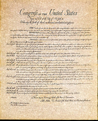 Photograph - Bill Of Rights by Jack R Perry
