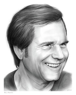 Aliens Drawing - Bill Paxton by Greg Joens