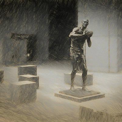 Bill Russell Statue Art Print
