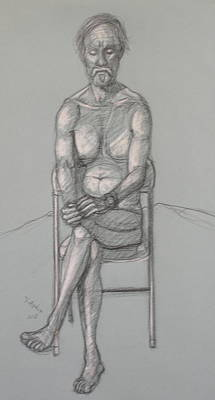 Drawing - Bill Seated Forward by Donelli  DiMaria