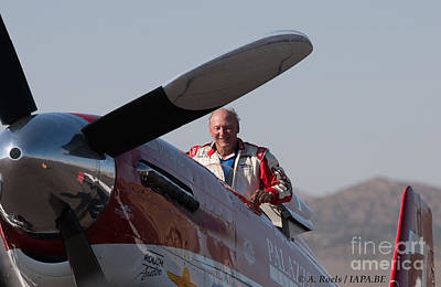 Photograph - Bill -tiger- Destefani Winner Of The Reno Air Races In 2008 With P-51 Strega by Antoine Roels