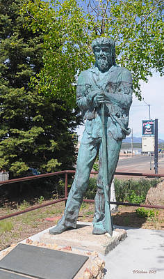 Photograph - Bill Williams Statue by Victoria Oldham