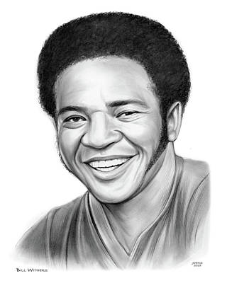 Drawings Royalty Free Images - Bill Withers Royalty-Free Image by Greg Joens