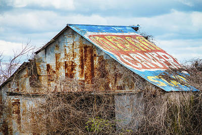 Photograph - Billboard Barn by Steven Bateson
