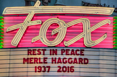 Photograph - Billboard Merle Haggard Rip by Connie Cooper-Edwards