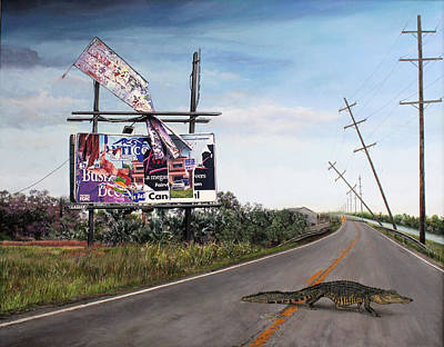 Painting - Billboard Thief by Richard Barone