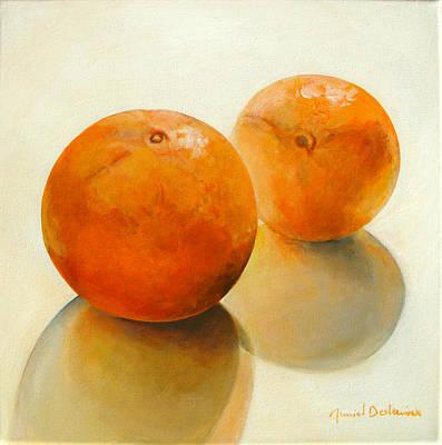 Billes Oranges Art Print by Muriel Dolemieux