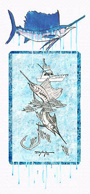 Billfish Adventure Art Print by William Depaula