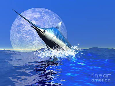 Sports Paintings - Billfish  by Corey Ford