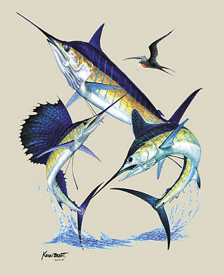 Billfish Slam Art Print