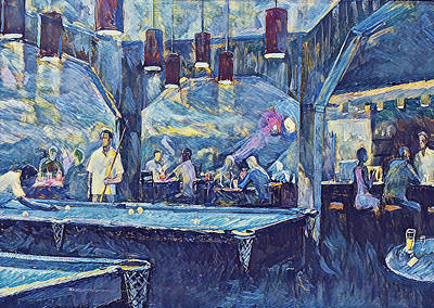 Digital Art - Billiard Bar by Yury Malkov