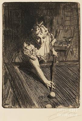Billiards Painting - Billiards by Celestial Images