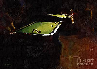 Pool Table Paintings Pixels - Pool table painting