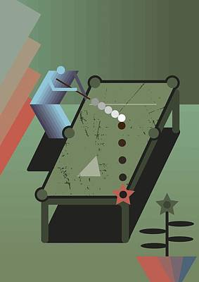 Billiards Art Print by Benjamin Gottwald