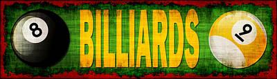 Billiard Sticks Digital Art - Billiards by David G Paul