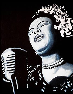 Billie Holiday Painting - Billie Belts The Blues by Al  Molina