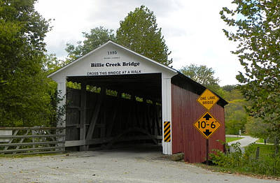 Billie Creek Bridge Print by Robert Turner