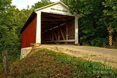 Photograph - Billie Creek Covered Bridge by Adam Jewell