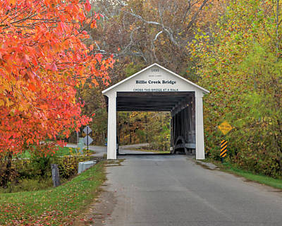 Photograph - Billie Creek Covered Bridge by Harold Rau