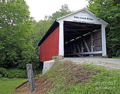 Billie Creek Covered Bridge Art Print