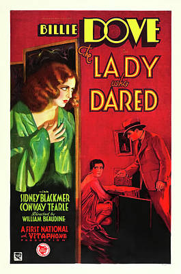 Classic Film Star Mixed Media - Billie Dove In The Lady Who Dared 1931 by Mountain Dreams