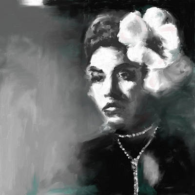 Billie Holiday Painting - Billie Holiday 4 by Mawra Tahreem