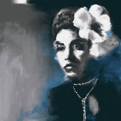 Billie Holiday Painting - Billie Holiday 549 3 by Mawra Tahreem
