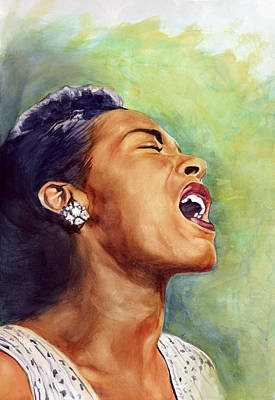 Billie Holiday Painting - Billie Holiday by Adrienne Norris