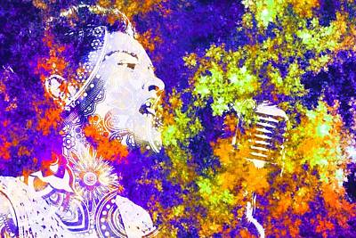 Jazz Digital Art - Billie Holiday by Brian Broadway
