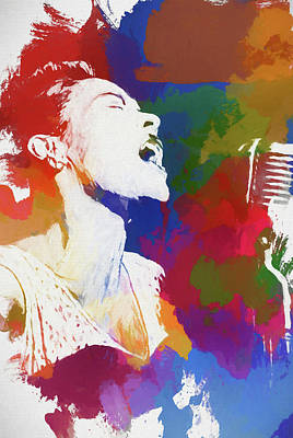 Painting - Billie Holiday by Dan Sproul
