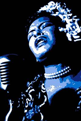 Jazz Digital Art - Billie Holiday by DB Artist