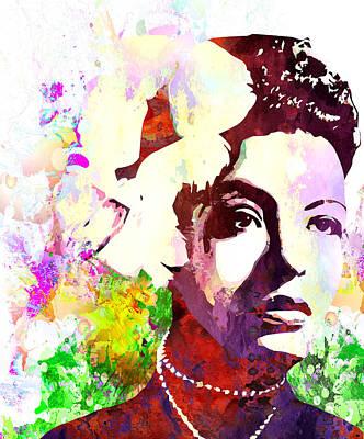 Billie Holiday Art Print by Elena Kosvincheva