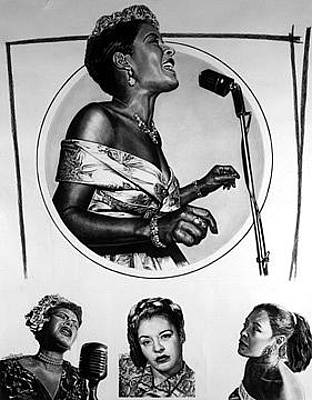 Painting - Billie Holiday Lady Day  by Buena Johnson