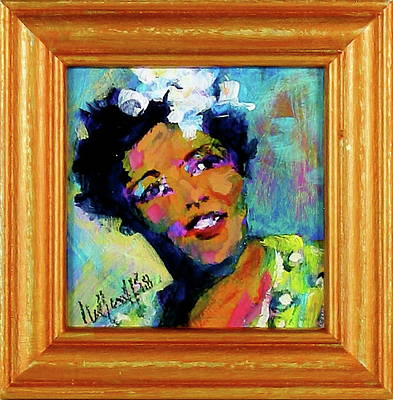 Painting - Billie Holiday by Les Leffingwell
