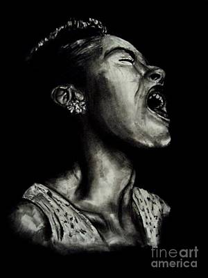 Frank Sinatra Drawing - Billie Holiday by Michael Grubb