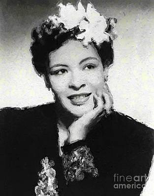 Music Royalty-Free and Rights-Managed Images - Billie Holiday, Music Legend by Mary Bassett